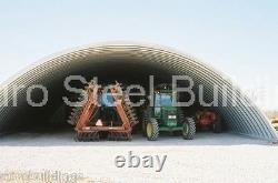 DuroSPAN Steel 51x38x19 Metal Quonset DIY Building Kit Open Ends Factory DiRECT