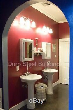 DuroSPAN Steel 51x50x17 Metal Quonset Hut DIY Home Building Kit Open Ends DiRECT
