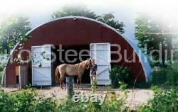DuroSPAN Steel 52x36x18 Metal Quonset Hut DIY Home Building Kit Open Ends DiRECT