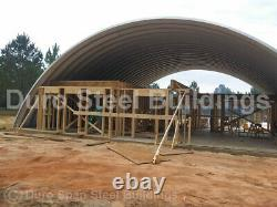 DuroSPAN Steel 55'x56'x19' Metal Quonset DIY Home Building Kits Open Ends DiRECT