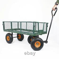 GARDEN TROLLEY and Sack Liner All Terrain Gravel Soil Gardening Wheelbarrow Cart