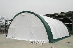 GM 30x65x15 Canvas Fabric Coverall Storage Building Shop Shelter Garage Shed