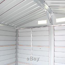 Garden 6'x5' Storage House Tool Shed Outdoor Steel Utility Yard Building Lawn