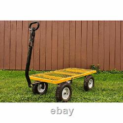 Gorilla Carts 1200 Pound Capacity Steel Utility Cart Wagon with Removable Sides