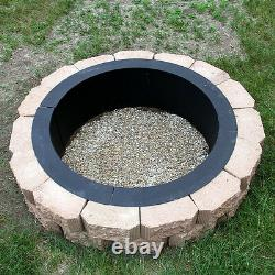 Heavy Duty DIY Build Your Own In-Ground Wood Fire Pit Ring Rim