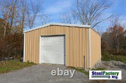 MADE IN AMERICA Steel 20x20x12 Galvanized Metal Storage Garage Shed Building Kit