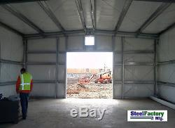 MADE IN AMERICA Steel 20x20x9 Galvanized Metal Storage Garage Shed Building Kit