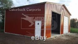 Metal Building 30x21 Steel Building Kit Garage Workshop Barn Structure Prefab