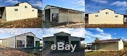Metal Building Steel Pole Barn Kit Prefab 5 Car Garage Shop 66x36 FREE INSTALL