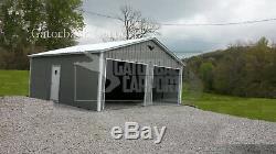 Metal Garage pre-fab steel building, steel garage, workshop, metal building