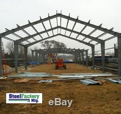 Prefab Metal Commercial Building 50x100 Steel Factory Mfg US Made Lowest Prices