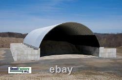 Prefab Steel 40x100x18 Round Arch Style Metal Quonset Hut Farm Storage Building