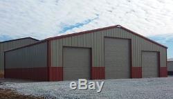 SIMPSON Steel 40x50x14 Garage Kit Metal Barn Storage Building Garage Workshop