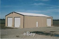 SIMPSON Steel Building 24x24x10 ALL GALVALUME Metal Building Kit Garage Storage