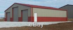 SIMPSON Steel Building 50x50x16 ALL GALVALUME Garage Storage Kit Metal Building