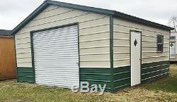 STEEL Garage Workshop Fully Enclosed Metal Building 18x21x8 FREE SETUP DELIVERY