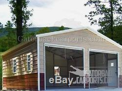 STEEL Garage Workshop Fully Enclosed Metal Building 20x26x8 FREE SETUP DELIVERY