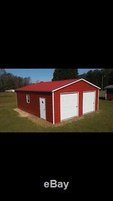 STEEL Garage Workshop Fully Enclosed Metal Building FREE SETUP DELIVERY