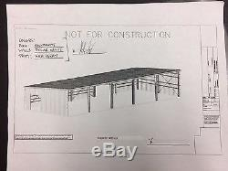 STEEL METAL BUILDING 100 x 38 NEVER USED! PRICED TO SELL! SEE SPECS BELOW
