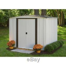 Shed Outdoor Gardening Storage Steel Metal Storing Tools Yard Building Equipment