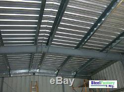 Steel 30x50x12 Prefab Metal Barn IBeam Garage Building