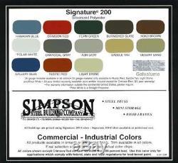 Steel Building 24x24x10 SIMPSON Steel Metal Garage Shop