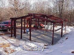 Steel Building 24x24x9 Kit SIMPSON Steel Metal Garage Workshop