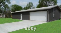 Steel Building 40x40 SIMPSON Metal Building Kit Garage Workshop Barn Structure