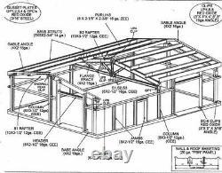 Steel Building 40x80 SIMPSON Metal Building Kit Garage Workshop Barn