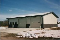 Steel Building 50x60x12 SIMPSON Metal Auto Body Shop Structure Storage Kit