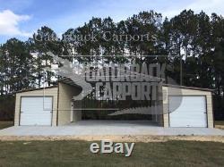 Steel-Building-Metal-Barn-40x51- 2-Garage-Doors-FREE-DELIVERY-SETUP