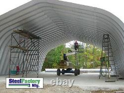 Steel Factory 30x30x14 Metal Gambrel Arch Style Building Kit Carport No Ends