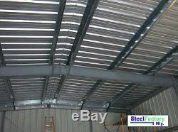 Steel Factory 40x75x16 Metal Frame Ibeam Storage Garage Auto Repair Building