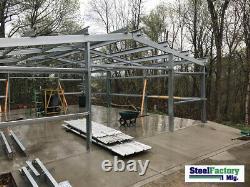 Steel Factory Mfg 25x50x10 Metal Beam Frame Garage Building Kit MADE IN USA