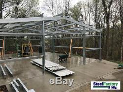 Steel Factory Mfg 30x50x10 Auto Body Garage Workshop Storage Metal Building Kit