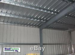 Steel Factory Mfg 40x75x14 Metal Frame Ibeam Storage Garage Salvage Building