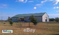 Steel Factory Mfg Prefab Barn Metal i-beam Frame 40x50x12 Garage Building Kit