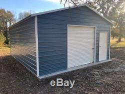 Steel Garage Carport Workshop 20x26x9 Metal Building FREE DELIVERY SETUP