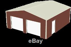 Steel Metal 2-Car Garage Building Kit, Ameribuilt Steel Structures 576 sq