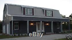 Steel Metal Gambrel Home Building Shell Kit, 2 floor 2720 sq ft