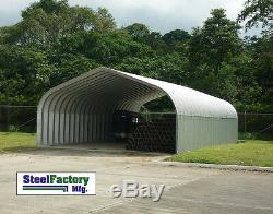 Steel Residential Carport 30x40x15 Pitched Roof Metal Building Clearance Prices