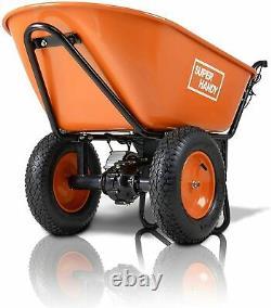 Superhandy Wheelbarrow Electric Powered Utility Cart Ultra Duty 24V Dc 180W Agm
