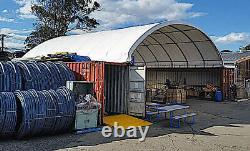 20'x40' Shipping Cargo Container Conex Fabric Building Canvas Shelter Garage Nouveau