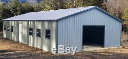 26x51x9 Bâtiment D'atelier Utilitaire De Garage En Acier En Acier