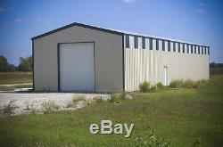 30'x40'x12 'kit De Construction Pour Garage / Atelier En Acier Excel Metal Building Systems Inc