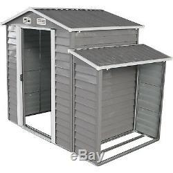 8'x5 'extérieur Jardin Garage De Stockage Remise Utilitaire Outil Pelouse Construction Avecdoor Gary