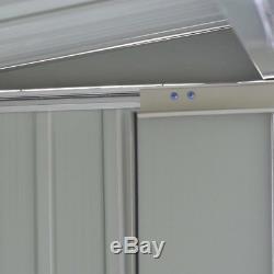 8 'x 6' Kit De Stockage De Jardin De Jardin En Métal D'arrière-plan De Bricolage Portes De Construction En Acier En Plein Air