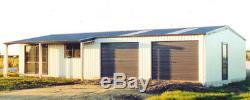 Acier Maison Isole Avec Véranda -metal Construction Boutique Kit Avec Ou Sans Garage