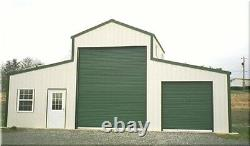American Barn-all Galvanized Steel & Isolé! Bâtiment Garage-métal