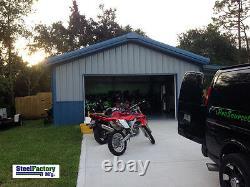 American Made Steel 30x60x14 Prefab Metal Barn Galvanized Frame Garage Building